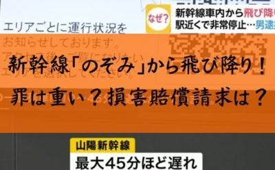 新幹線 飛び降り 誰 新幹線特例法違反 損害賠償