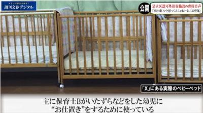 足立区の虐待保育施設 お叱りベッド